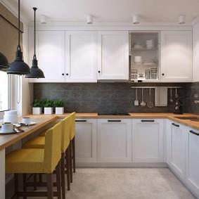 réparation de cuisine avec une superficie de 9 m² design photo