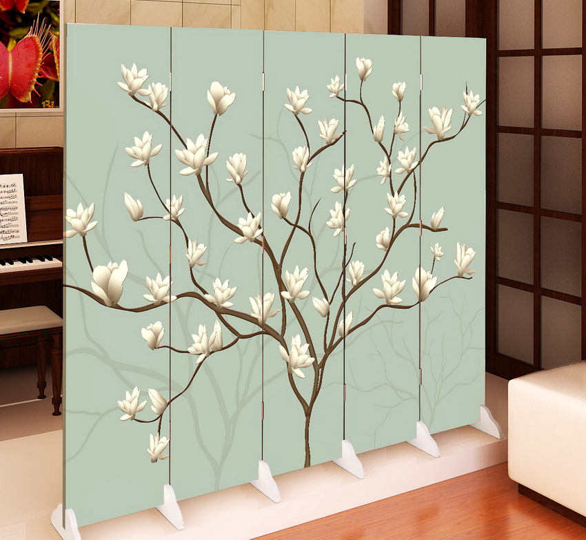 Paravent arbre fleuri