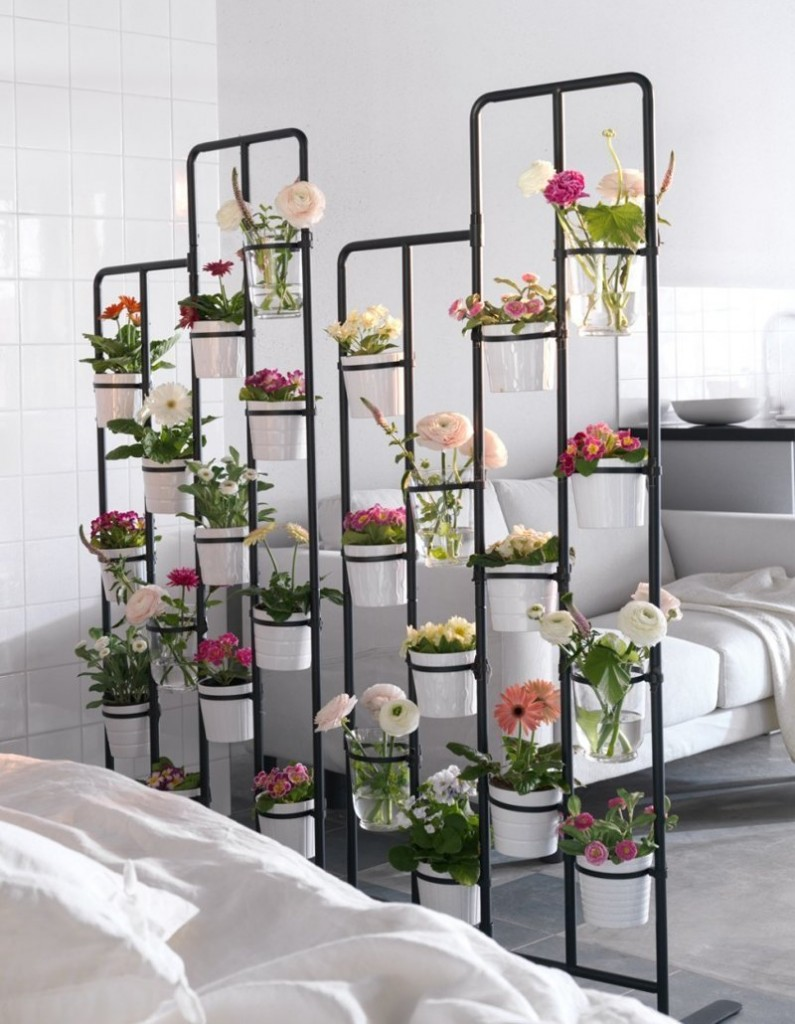 Étagère pour les fleurs de la maison de la société Ikea