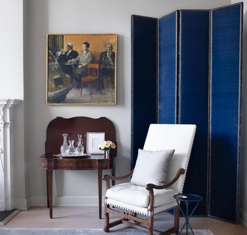 Paravent élégant dans un salon de style classique