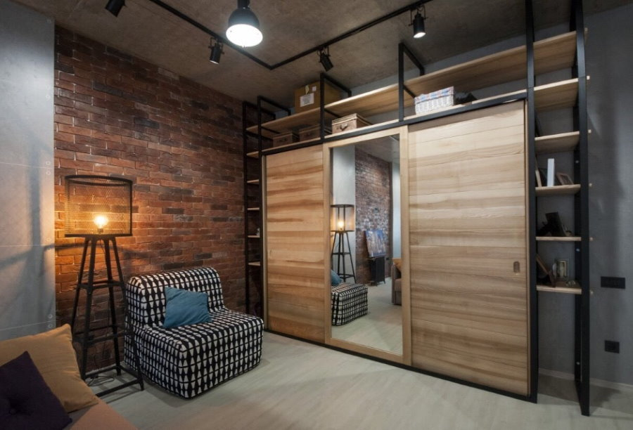 Armoire de style loft