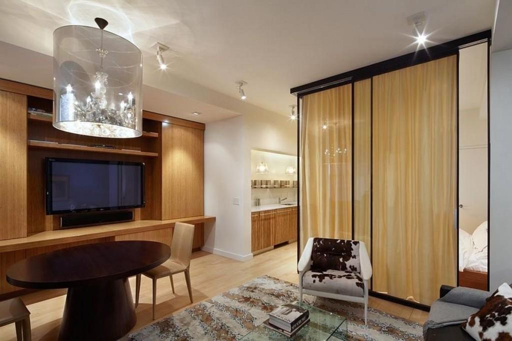 Zonage de la pièce avec une cloison vitrée