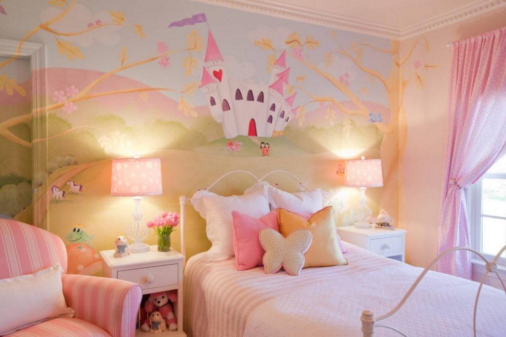 L'intérieur de la chambre pour la fille dans un style féerique