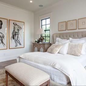 décor de chambre à coucher moderne
