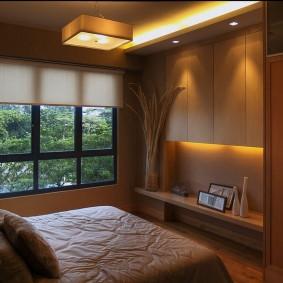 photo d'intérieur de chambre à coucher moderne