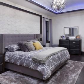 intérieur de chambre à coucher moderne
