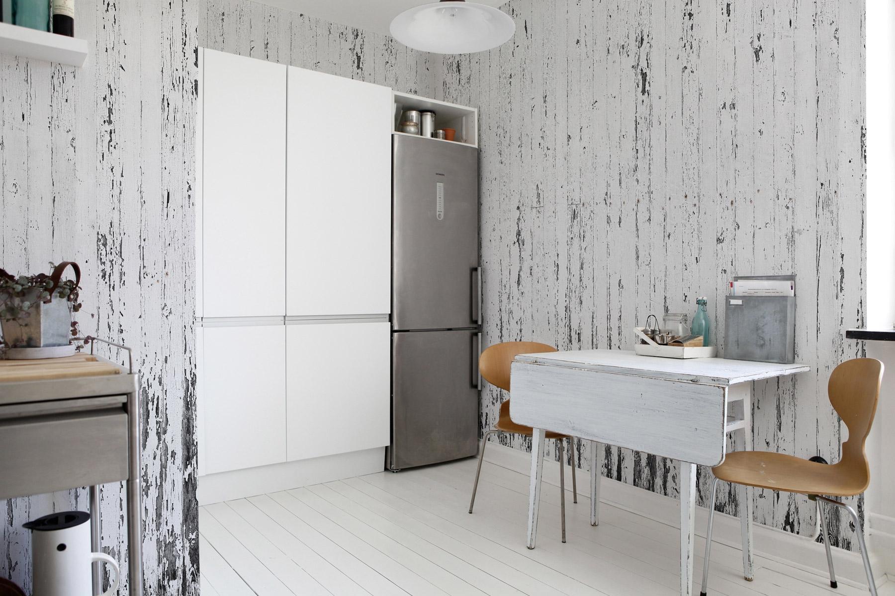 papier peint moderne dans la cuisine