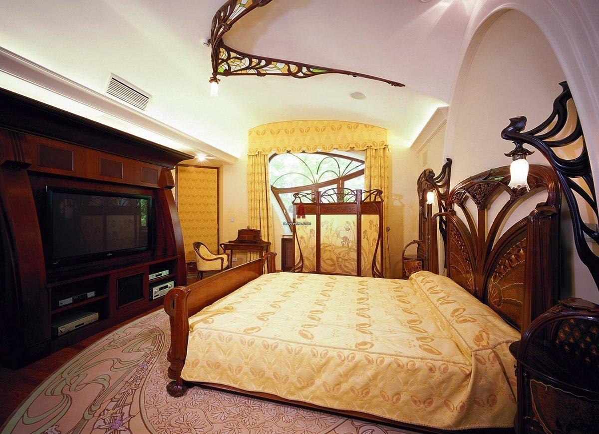 Style Art Nouveau à l'intérieur de la chambre