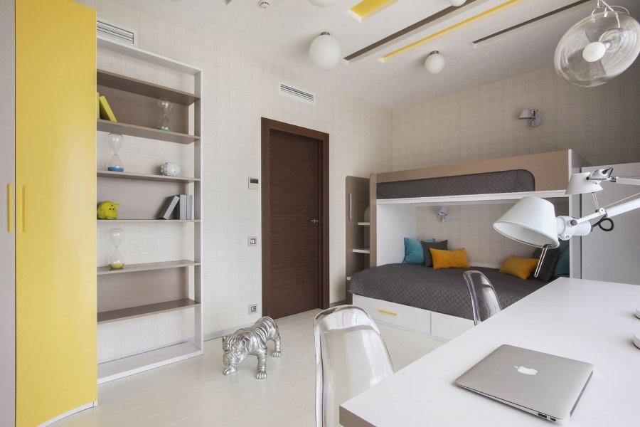 Ameublement d'une chambre d'enfant dans un style moderne