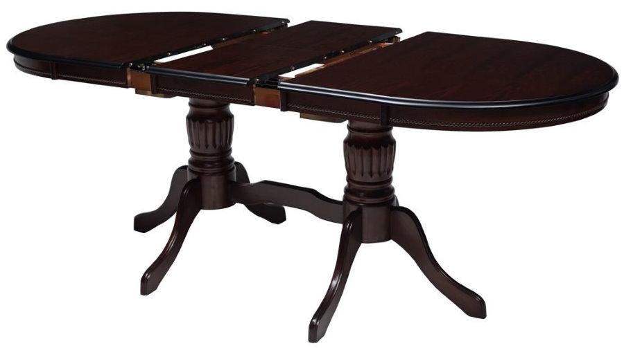 Table extensible en bois foncé