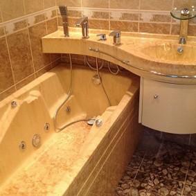 plan de travail avec vasque