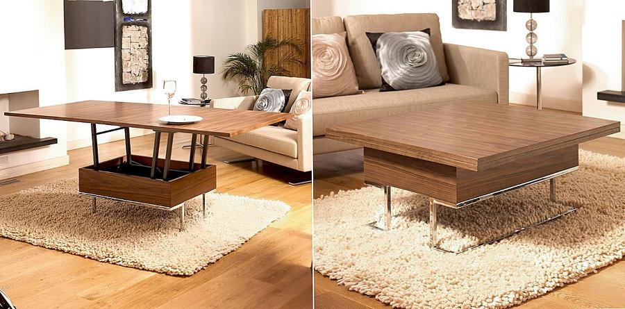 Transformation d'une table basse en salle à manger