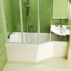 installation d'un lavabo au-dessus de la baignoire