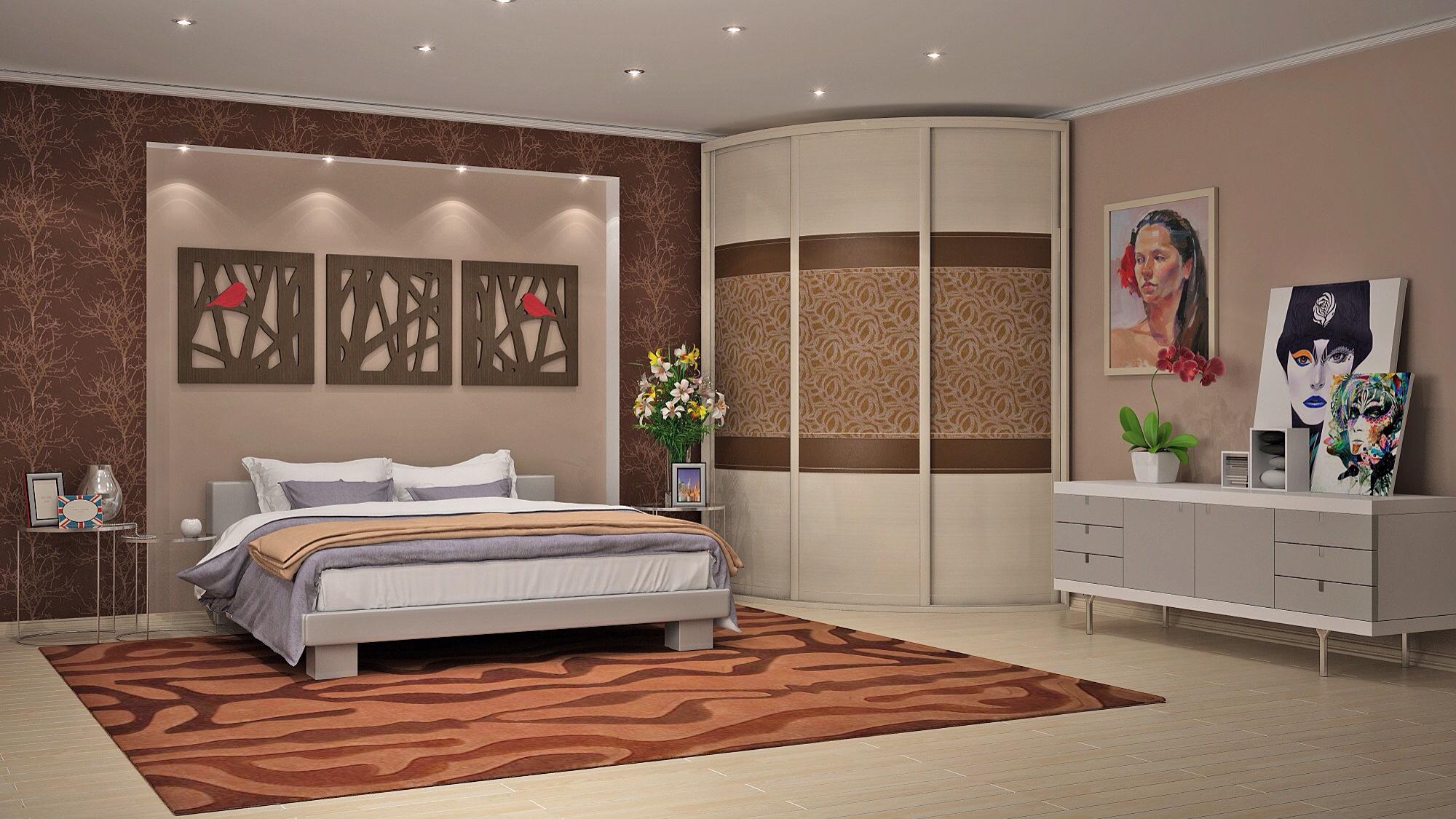 خزانة شعاعي في غرفة النوم