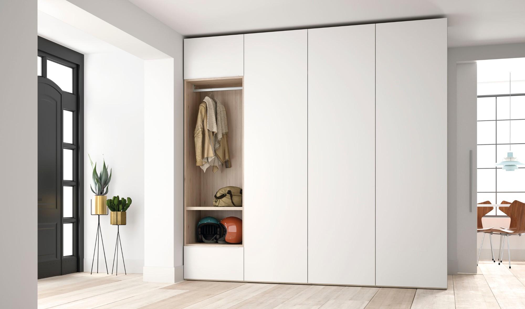 armoire à charnière blanche