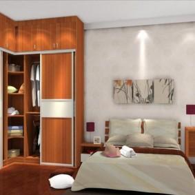 خزانة ملابس لأنواع تصميم غرفة النوم