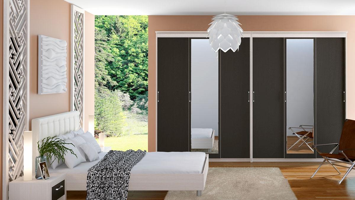 خزانة وحدات في غرفة النوم