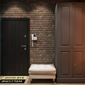 armoire avec portes à charnières à l'intérieur du couloir photo intérieure