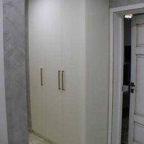 armoire avec portes battantes aux idées intérieures du hall d'entrée