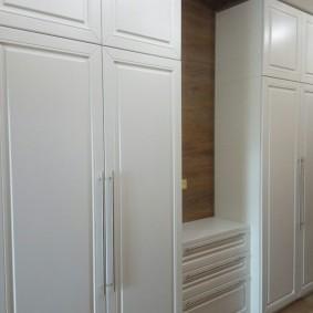 armoire avec portes battantes à la décoration photo couloir