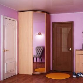 armoire avec portes battantes aux idées de couloir